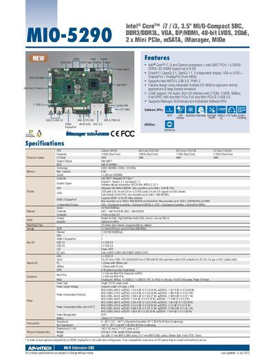 Advantech MIO-5290 Spec Sheet.pdf